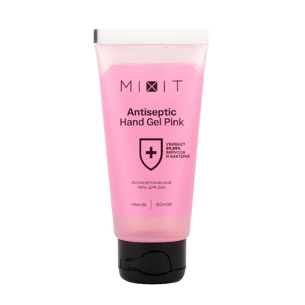 Mixit Антисептический гель для рук розовый, 60 мл (Mixit, Antibacterial)
