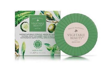 Купить Vegetable Beauty Натуральное мыло Огурец, мята и олива , 100 г (Vegetable Beauty, Мыло)