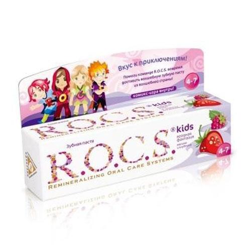 Купить R.O.C.S Зубная паста Малина и клубника, 45 г (R.O.C.S, Kids 3-7 years)