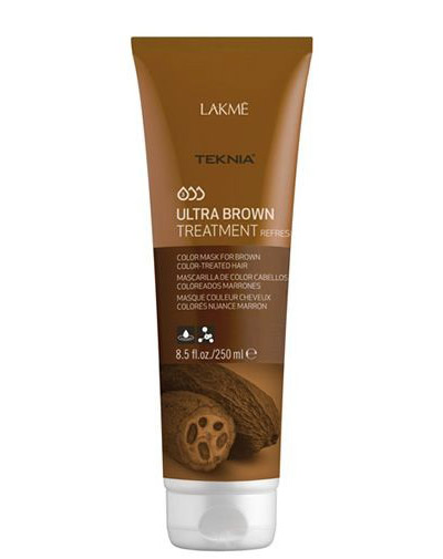"Ultra brown Средство для поддержания оттенка окрашенных волос ""Коричневый"" 250 мл (Lakme, Teknia, Ultra brown)"
