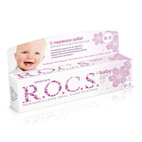 Купить R.O.C.S Зубная паста Аромат липы, 45 г (R.O.C.S, Bebe 0-3 years)
