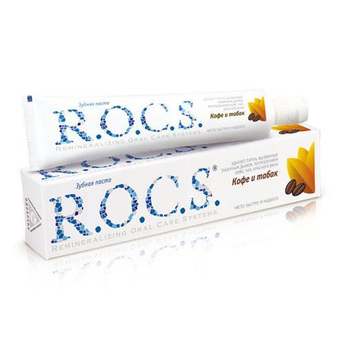 Купить R.O.C.S Зубная паста Кофе и табак 74 гр. (R.O.C.S, Для Взрослых)
