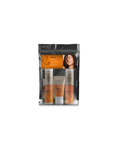 Lakme Набор Шампунь 100 мл, кондиционер 100 мл, маска 50 мл (Lakme, Teknia) lakme сыворотка для восстановления поврежденных солнцем кончиков волос serum 100 мл