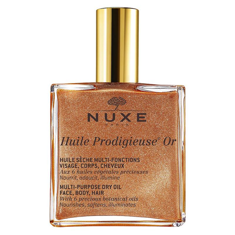 Купить Nuxe Мерцающее сухое масло для лица, тела и волос Huile Prodigieuse Or Multi-Purpose Dry Oil, 100 мл (Nuxe, Prodigieuse)