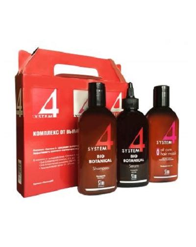 Sim Sensitive Лечебный комплекс от выпадения волос шампунь 215 мл, маска 215 мл, сыворотка 200 мл (Sim Sensitive, System 4)