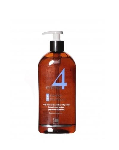 Купить Sim Sensitive Шампунь №4 для очень жирной, чувствительной и раздраженной кожи головы 500 мл (Sim Sensitive, System 4)
