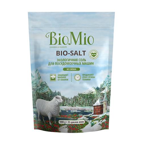Купить BioMio Соль экологичная для посудомоечных машин, 1000 г (BioMio, Посуда)