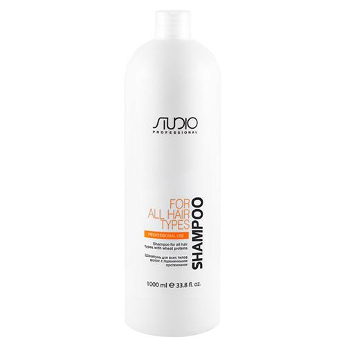 Купить Kapous Professional Шампунь для всех типов волос с пшеничными протеинами, 1000 мл (Kapous Professional, Kapous Studio)
