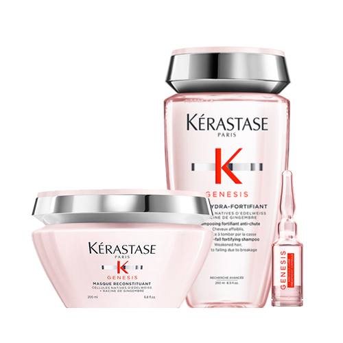 Купить Kerastase Набор для ослабленных волос Genesis (Маска, 200 мл + Ампулы, 10* 6 мл + Шампунь-ванна, 250 мл) (Kerastase, Genesis)