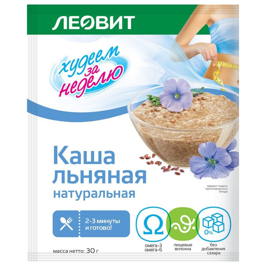 Леовит Каша натуральная льняная, 30 г (Леовит, )