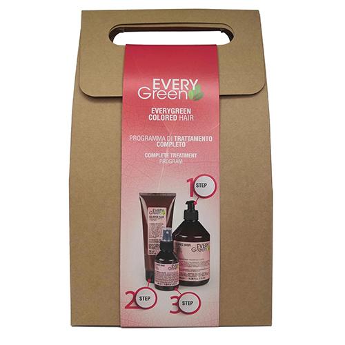 Купить Dikson Набор для окрашенных волос Colored (Шампунь для окрашенных волос, 500 мл + Маска для окрашенных волос, 250 мл + Эликсир, 100 мл) (Dikson, EveryGreen)