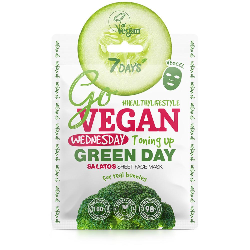 Купить 7 Days Тканевая salad маска для лица Wednesday Green Day, 25 г (7 Days, Go Vegan)