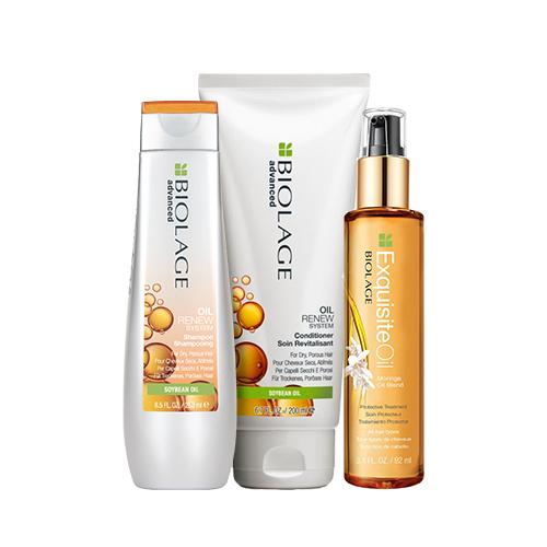 Купить Matrix Набор для восстановления волос Oil Renew (Шампунь, 250 мл + Кондиционер, 200 мл + Масло, 100 мл) (Matrix, Biolage)