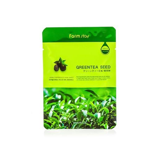Farmstay Тканевая маска с натуральным экстрактом семян зеленого чая, 23 мл (Farmstay) недорого