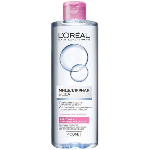 Купить L'Oreal Paris Мицелярная вода для сухой и чувствительной кожи 400 мл (L'Oreal Paris, Мицеллярная вода)