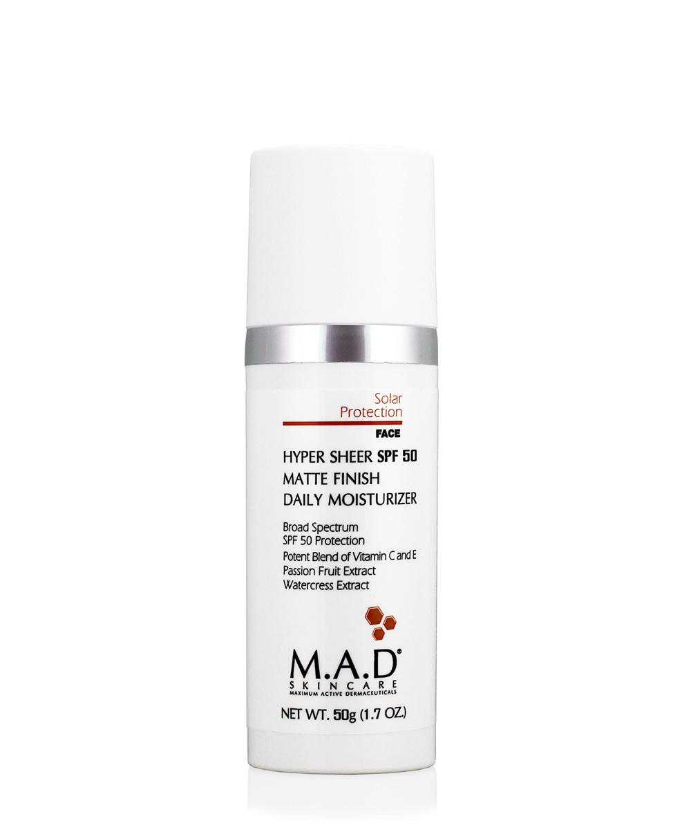 Купить M.A.D. Увлажняющий и матирующий крем-основа под макияж с защитой spf 50, 50 гр (M.A.D., Sun Protection)