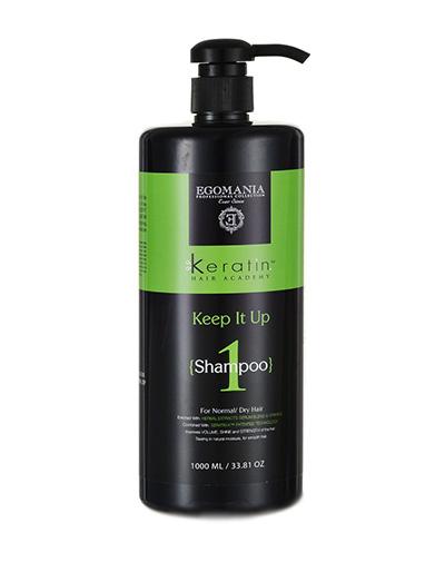 заказать Шампунь Egomania Keratin Hair Academy для нормальных и сухих волос (Эгомания Кератин Хаир Академия) 1000 мл