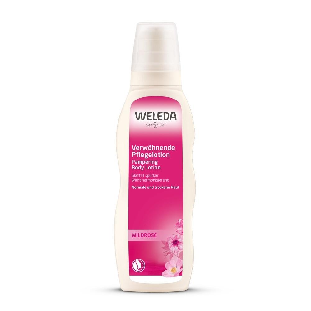 Weleda Розовое гармонизирующее молочко для тела, 200 мл (Weleda, Розовая линия)