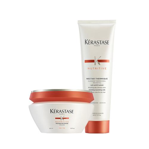 Купить Kerastase Набор для питания сухих волос Nutritive (Маска, 200 мл + Термозащитный уход, 150 мл) (Kerastase, Nutritive)