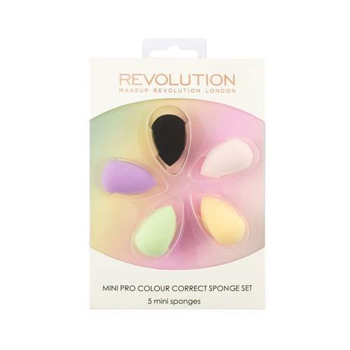 Makeup Revolution Набор цветных корректириующих спонжей Mini Pro Colour Correct Sponge Set (Makeup Revolution, Аксессуары) недорого