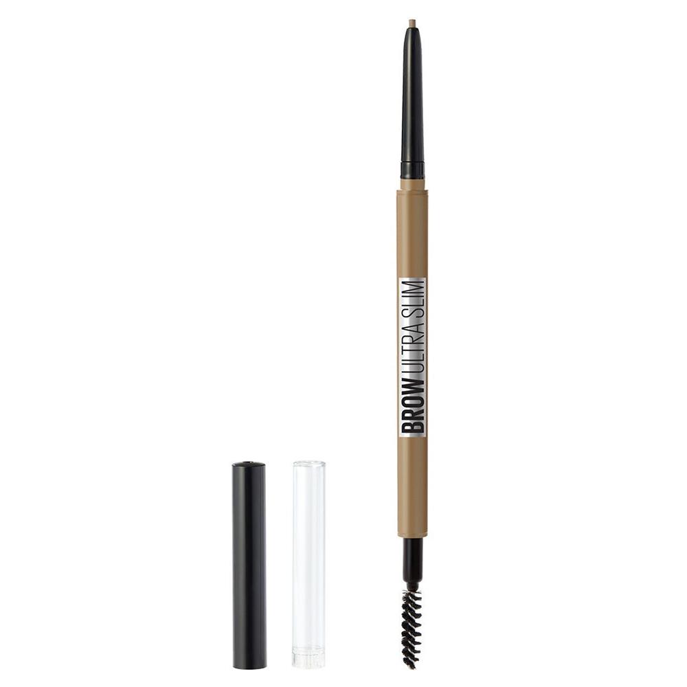 Купить Maybelline Карандаш для бровей Brow Ultra Slim , карандаш + щеточка, 1 г - 01 – Тёмный блонд (Maybelline, )
