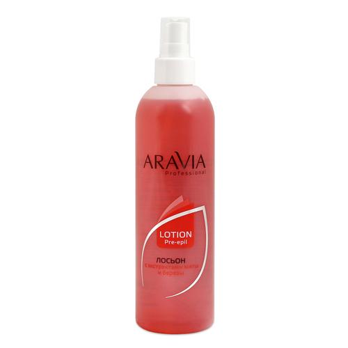 Купить Aravia Professional Лосьон для подготовки кожи перед депиляцией с экстрактами мяты и березы Lotion Pre-epil, 300 мл (Aravia Professional)