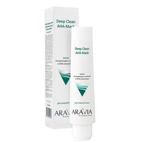 Купить Aravia professional Маска очищающая с глиной и AHA-кислотами для лица Deep Clean AHA-Mask, 100 мл (Aravia professional, Aravia Professional)