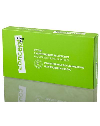 Concept Бустер с кератиновым экстрактом, 10 ампул по 10 мл (Concept, Green Line)