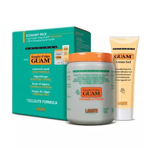 Купить Guam Набор Fanghi d'Alga Маска антицеллюлитная с охлаждающим эффектом, 1000 г + Гель-лифтинг укрепляющий, 250 мл (Guam, Fanghi d'Alga)