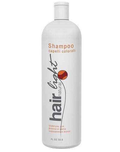 Купить Hair Company Hair Natural Light Shampoo Capelli Colorati Шампунь для блеска и цвета окрашенных волос, 1000 мл (Hair Company, Hair Natural Light)