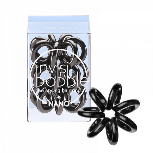 Купить Invisibobble Резинка для волос invisibobble NANO True Black (с подвесом) черный (Invisibobble, Nano)