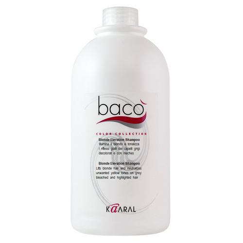 Купить Kaaral Шампунь, придающий блеск волосам и тонирующий седые волосы Blonde elevation shampoo, 1000 мл (Kaaral, Baco)