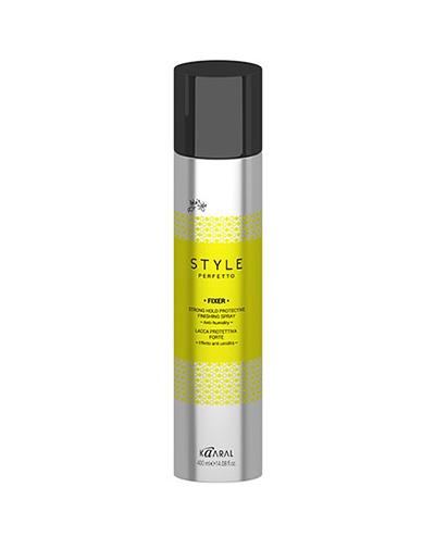 Kaaral Защитный лак для волос сильной фиксации Fixer Strong Hold Protective Finishing Spray, 400 мл (Kaaral, Style Perfetto)  - Купить