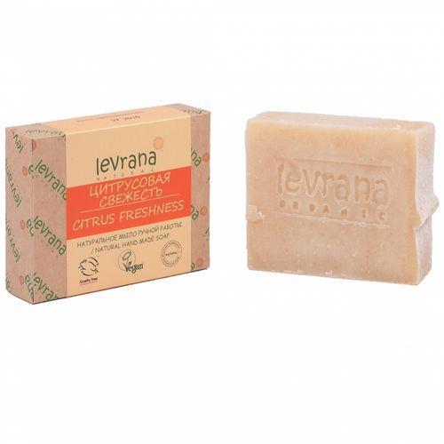 Купить Levrana Натуральное мыло ручной работы Цитрусовая свежесть , 100 г (Levrana, Для тела)