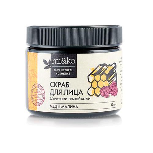Купить Mi&Ko Скраб для лица Мед и малина для чувствительной кожи, 60 мл (Mi&Ko, Для лица)