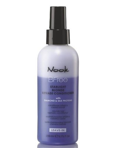 Nook Сияющий двухфазный кондиционер для волос цвета «Блонд» Bi-Phase, 200 мл (Nook, Bfree) недорого