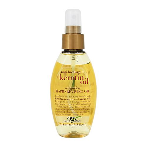 OGX Легкое кератиновое масло-спрей против ломкости волос мгновенное восстановление 118 мл (OGX, Для волос) недорого