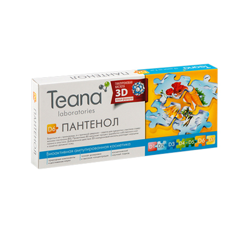 Купить Teana «D6» Пантенол Сыворотка для стареющей, утратившей эластичность кожи 10х2 мл (Teana, Ампульные сыворотки)