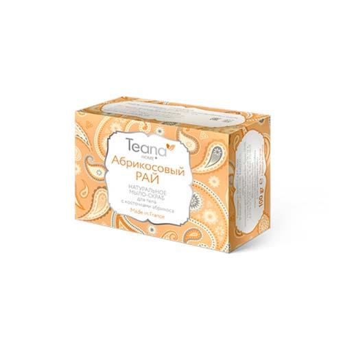 Купить Teana Абрикосовый рай Натуральное мыло-скраб для лица и тела с косточками абрикоса 100 гр (Teana, Натуральное мыло ручной работы)