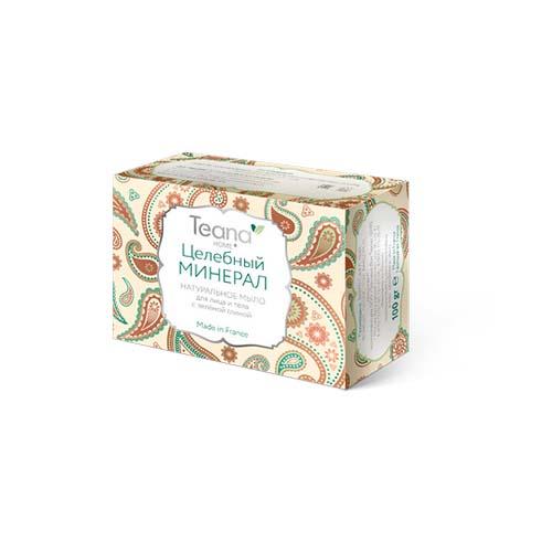 Купить Teana Целебный минерал Натуральное мыло для жирной и проблемной кожи лица и тела с зелёной глиной 100 гр (Teana, Натуральное мыло ручной работы)