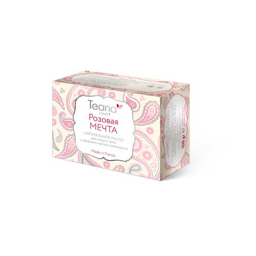 Купить Teana Розовая мечта Натуральное мыло для жирной и проблемной кожи лица и тела, 1 шт (Teana, Натуральное мыло ручной работы)