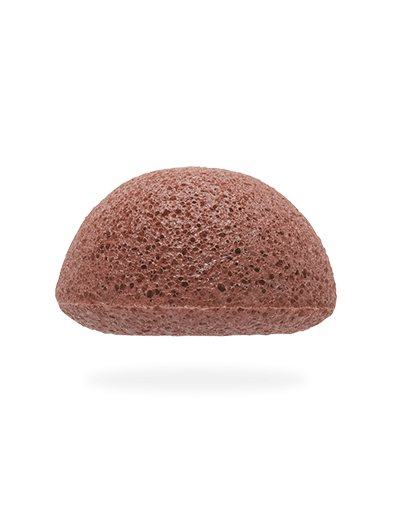 Спонж для умывания лица Facial Puff Konjac Sponge Red Clay с красной глиной