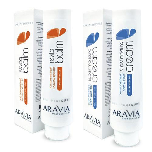 Купить Aravia professional Набор: Восстанавливающий бальзам для ног с витаминами Revita Balm , 100 мл + Суперувлажняющий крем для ног с мочевиной Super Moisture , 100 мл (Aravia professional, Aravia Professional)