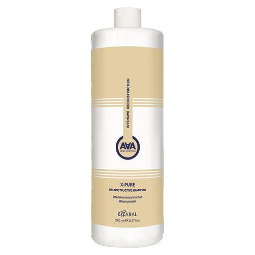 Купить Kaaral Восстанавливающий шампунь для поврежденных волос с пшеничными протеинами X-Pure Reconstructive Shampoo, 1000 мл (Kaaral, X-Form)