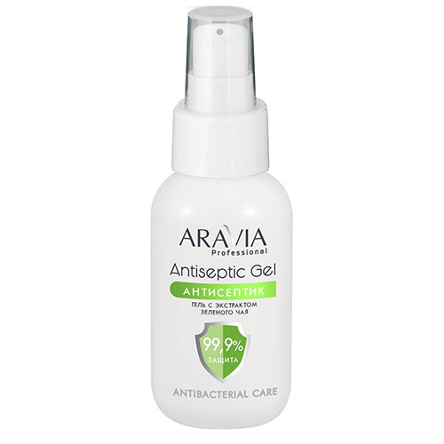 Aravia Professional Гель-антисептик для рук с экстрактом зеленого чая Antiseptic Gel, 50 мл (Aravia Professional)
