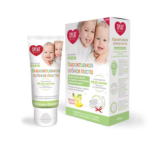 Купить Splat Набор Baby 0-3 (Зубная паста Яблоко-Банан + щетка) (Splat, Baby)