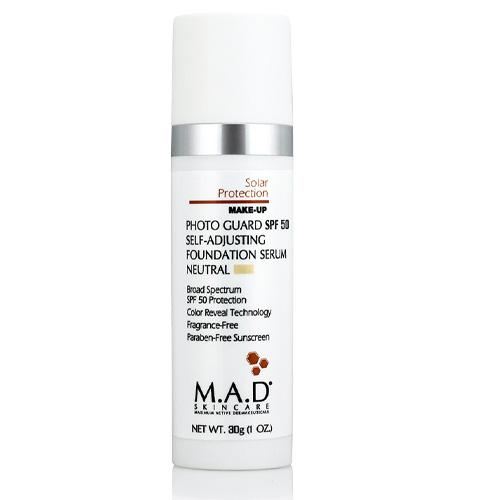 Купить M.A.D. Подстраивающаяся сыворотка-основа под макияж с защитой spf 50 neutral light, 30 г (M.A.D., Sun Protection)