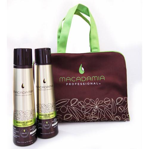"""Macadamia Косметический набор Макадамия """"Питание и увлажнение"""" в коричневой сумке 1 шт (Macadamia, Наборы)"""