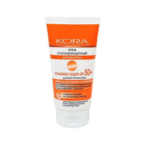 Купить КОРА Крем солнцезащитный для лица и тела Усиленная защита SPF 50+, 150 мл (КОРА, Солнце)