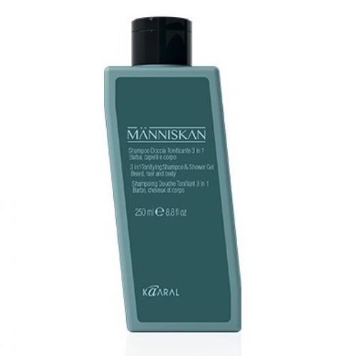 Купить Kaaral Тонизирующий шампунь и гель для душа 3 в 1 Tonifying Shampoo & Shower Gel 3 in 1, 250 мл (Kaaral, Manniskan)